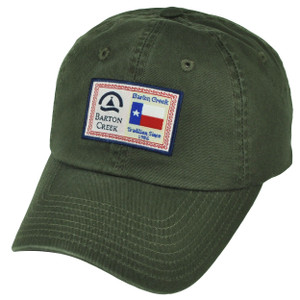 American Needle Barton Creek Austin Texas Sun Buckle Olive Green Hat Cap City