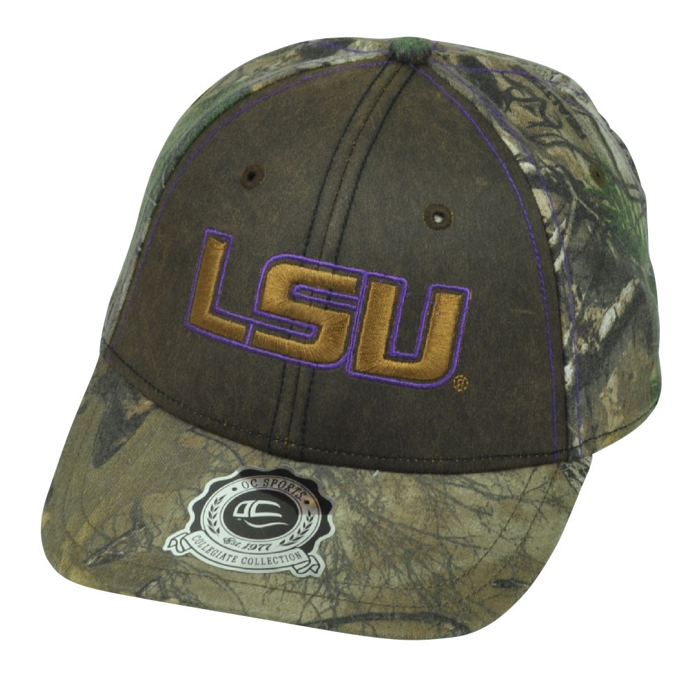 a6576f32d15 NCAA Louisiana State LSU Tigers Real Tree Camouflage Camo Hat Cap ...