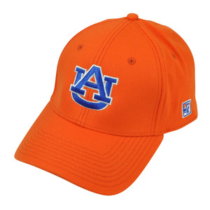 NCAA Auburn Tigers The Game Fitted Hat Cap Size Large Orange Stretch Sport AU