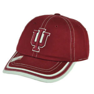 NCAA Indiana Hoosiers Burgundy Slouch Relaxed Sun Buckle Hat Cap Adjustable
