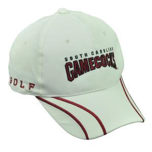 NCAA South Carolina Gamecocks  Adjustable Golf 1801 White Red Hat Cap USC