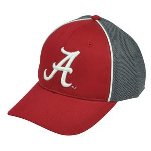 NCAA Alabama Crimson Tide Jersey Mesh  Red Grey Sport Adjustable Hat Cap