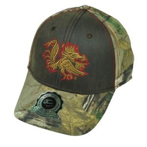 NCAA South Carolina Gamecocks Camouflage Camo  OC Sports Real Tree Hat Cap