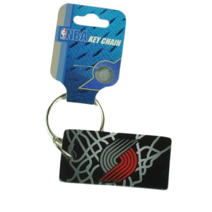 NBA Portland Trail Blazers House Work Key Chain Ring Black Red Novelty Sport