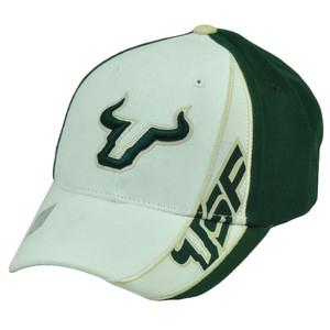 hot sale online ca9bc 26a02 NCAA South Florida Bulls SF Snapback White Green Hat Cap Captivating  Headgear