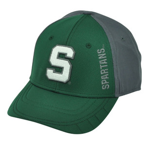 NCAA Michigan State Spartans 2Tone Green Gray Sun Buckle Sport Hat Cap Adjustable
