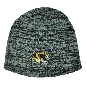 NCAA Missouri Tigers Knit Beanie Grey Cuffless Hat Winter Sport Toque Mizzou