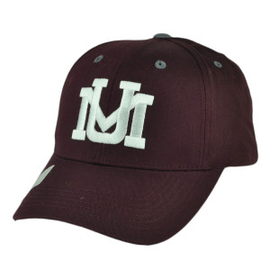 NCAA Montana Grizzlies Adjustable  Captivating Headgear Hat Cap Burgundy