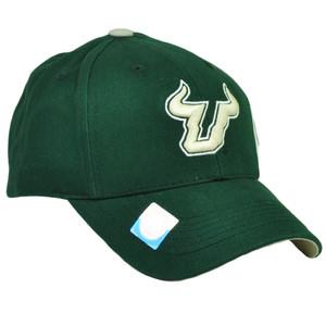 big sale 6edf6 9cd5d NCAA South Florida Bulls SF Snapback Beige Green Hat Cap Captivating  Headgear