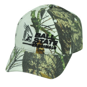 NCAA Ball State Cardinals Mossy Oak White Camouflage Camo  Hat Cap Sport