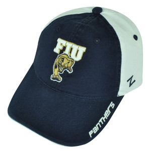 NCAA Zephyr Letterman II FIU Panthers Florida Clip Buckle Hat Cap Relaxed Blue