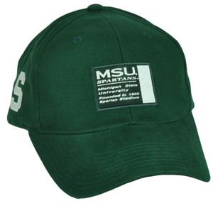 NCAA Michigan State Spartans  Hat Cap Adjustable Sport Green Est 1855 MSU
