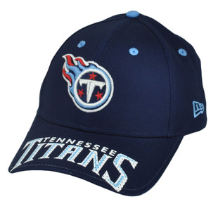 NFL New Era 9Forty 940 Word Pin Tennessee Titans  Hat Cap OSFA Navy Blue