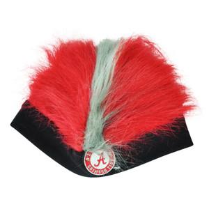 NCAA Alabama Crimson Tide Faux Flair Red Gray Hair Knit Cuffless Beanie Toque