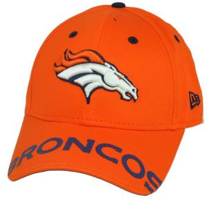 NFL New Era 9Forty 940 Word Pin Denver Broncos  Hat Cap Adjustable Orange