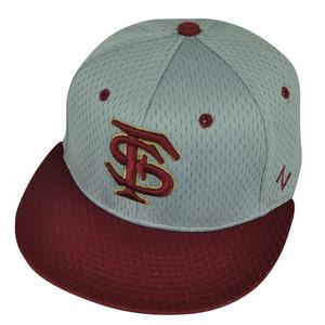 NCAA Florida State Seminoles Zephyr Noles Hat Cap Flat Bill Small Gray Burgundy