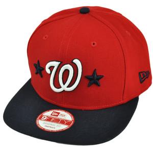 MLB New Era 9Fifty 950 Star Backed Washington Senators Snapback Red Hat Cap
