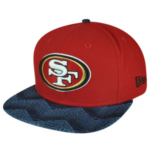 NFL New Era 9Fifty 950 Den Mixer San Francisco 49ers Snapback Flat Bill Hat Cap