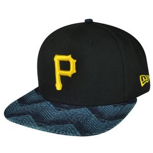 MLB New Era 9Fifty 950 Den Mixer Pittsburgh Pirates Snapback Flat Bill Hat Cap