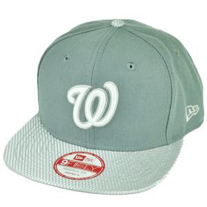 MLB New Era 9Fifty Flash Vize Washington Senators Snapback Hat Cap Flat Bill Gry