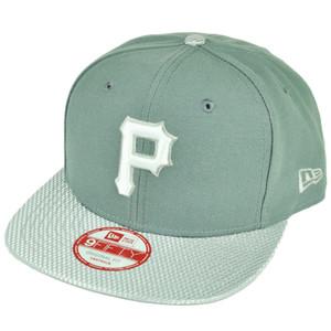 MLB New Era 9Fifty Flash Vize Pittsburgh Pirates Snapback Hat Cap Flat Bill Gry