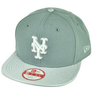 MLB New Era 9Fifty Flash Vize New York Mets Snapback Hat Cap Flat Bill Gray