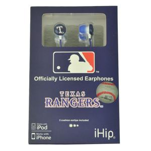 MLB Texas Rangers iHip Headphones earphones Audio Iphone Mp3 Sport Fan Music