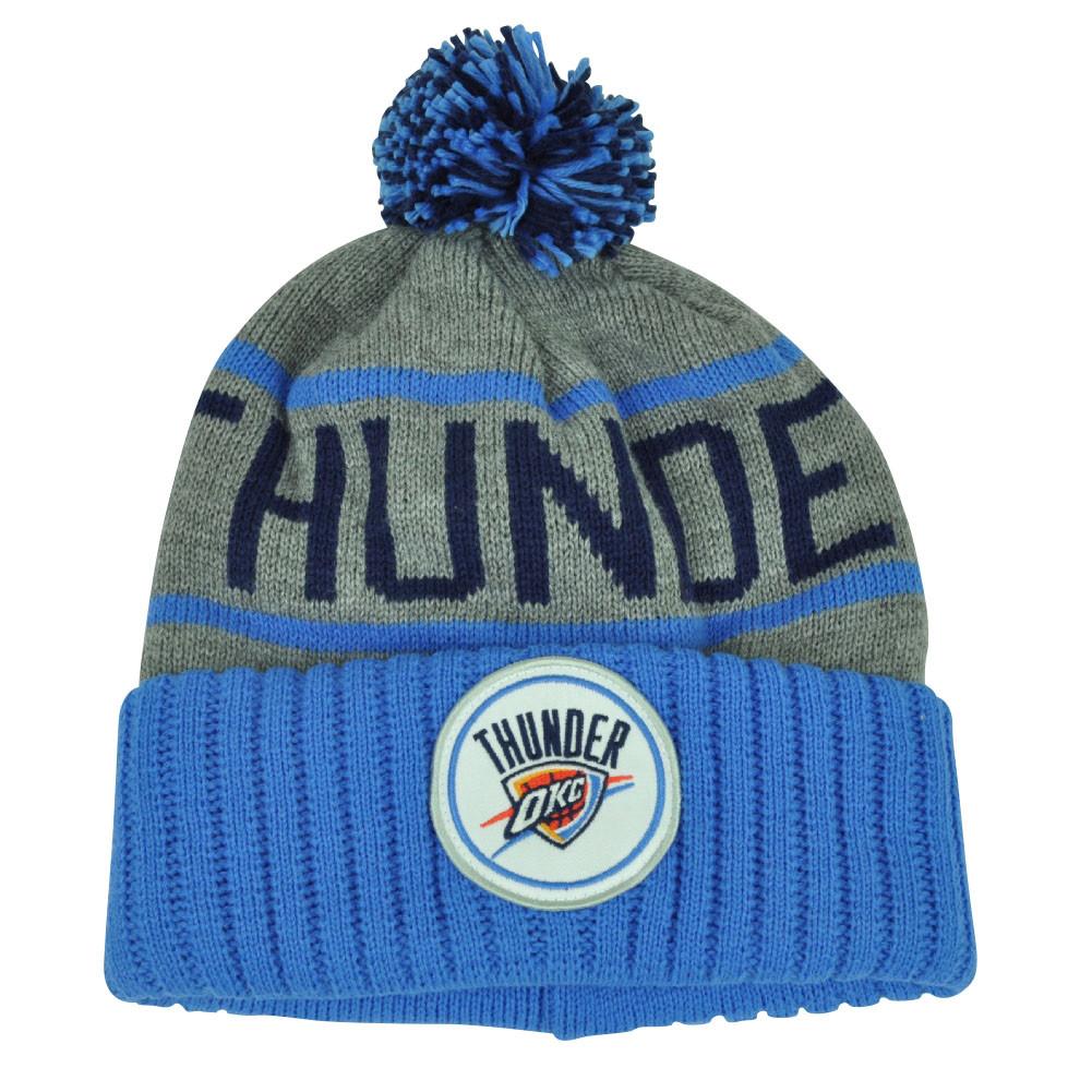 931da3bf8618f NBA Mitchell Ness KJ58 Oklahoma City Thunder Cuffed Pom Pom Knit ...