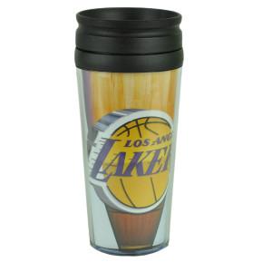 NBA Los Angeles Lakers Acrylic Travel Tumbler 16Oz Mug Coffee Drink Cups Liquids