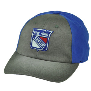 NHL American Needle New York Rangers Clip Buckle Relaxed Slouch Hat Cap Two Tone