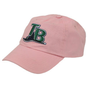 MLB Tampa Bay Rays Women Ladies Sun Buckle Relaxed Slouch Pink Hat Cap Adjustable