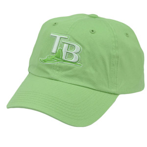 MLB Tampa Bay Rays Women Ladies Sun Buckle Relaxed Slouch Green Hat Cap Sport