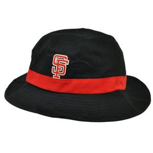 MLB San Francisco Giants Bucket Sun Crusher Hat Size Large XLarge Black Red