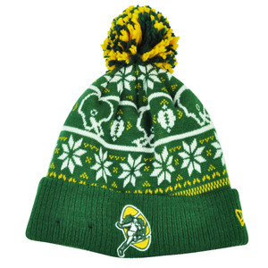 cbd765dd3 NFL New Era Sweater Chill Green Bay Packers Pom Pom Cuffed Knit Beanie  Winter