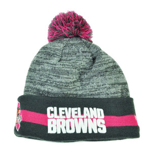 NFL New Era 15 Breast Cancer Awareness Sport Knit Beanie Womens Cleveland Browns
