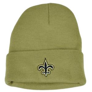 NFL New Orleans Saints Cuffed Toque Khaki Beanie Knit Winter Sport Skully Hat