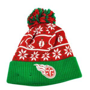 NFL New Era Sweater Chill Tennessee Titans Pom Pom Cuffed Knit Beanie Winter Hat