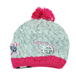 NFL New Era Breast Cancer Awareness Knit Beanie Tennessee Titans Pink Womens Hat