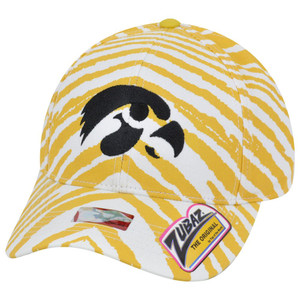 NCAA Iowa Hawkeyes Top of the World Smash Zubaz Zebra Stripes Snapback Hat Cap