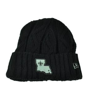 NFL New Era Grey Collection New Orleans Saints Knit Beanie Crochet Hat Black