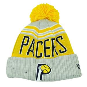 NBA New Era Winter Blaze Pom Pom Cuffed Knit Beanie Indiana Pacers Hat Toque