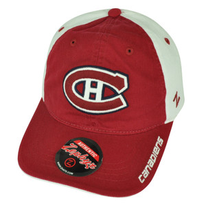 NHL Zephyr Montreal Canadiens Letterman II Snapback Hat Cap Two Tone Clip Buckle