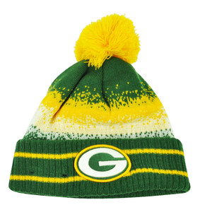 NFL New Era Spec Blend Green Bay Packers Cuffed Pom Pom Knit Beanie Hat Toque