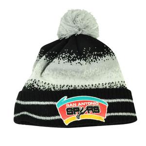 NBA New Era Spec Blend San Antonio Spurs Cuffed Pom Pom Knit Beanie Hat Toque