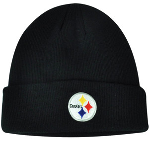 NFL Pittsburgh Steelers Cuffed  Black Toque Beanie Knit Winter Sport Skully Hat