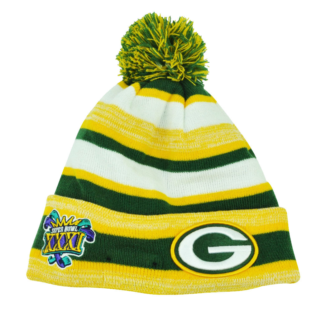cdc913f5dbc NFL New Era Super Bowl XXXI Sport Knit Green Bay Packers Knit Beanie ...