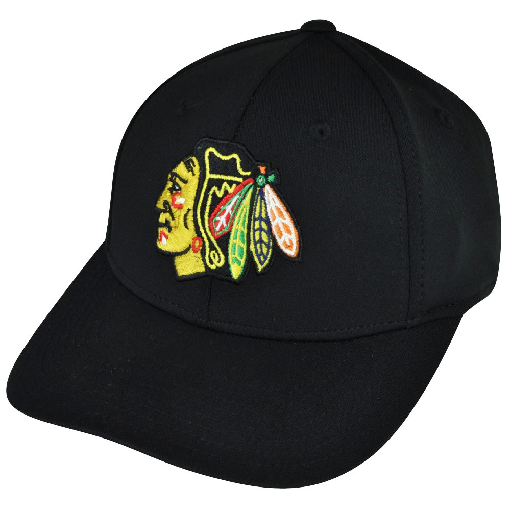 e314648030e9f NHL American Needle Chicago Blackhawks Flex Fit Stretch Black Large ...