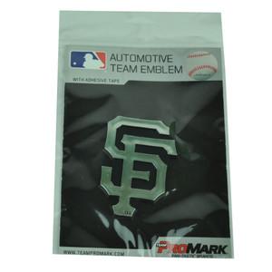 MLB San Francisco Giants Automotive Emblem Vehicles Cars Silver Black 3D Chrome