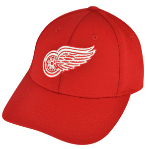 NHL American Needle Detroit Red Wings Flex Fit Stretch Large Hat Cap Red Sports
