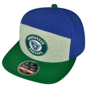 NHL American Needle Vancouver Canucks Snapback Flat Bill Hat Cap Sports Hockey